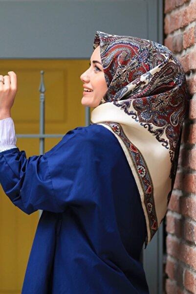 Silk Home Kadın Lacivert Twill Ipek Eşarp