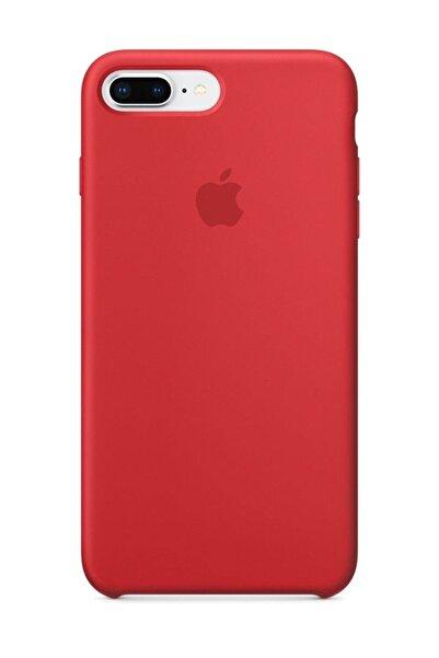 Apple Iphone 7 Plus 8 Plus Silikon Kılıf Kırmızı