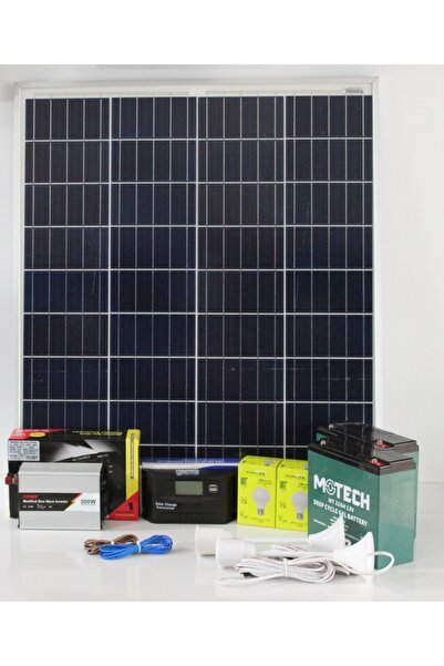 isos enerji 480 Watt(220 V)güneş Enerjili Mini Tv Ve Aydınlatma Paketi