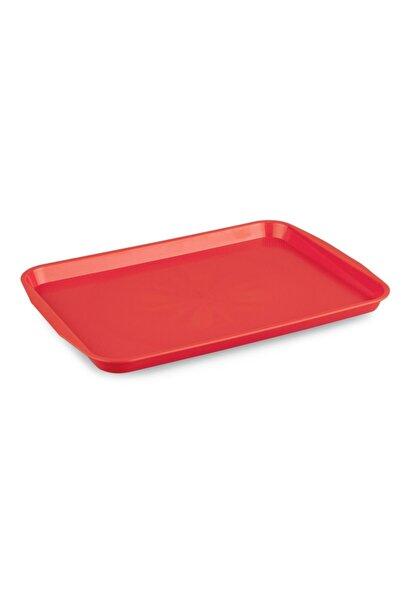 MATARMUTFAK Servis Tepsisi Kırmızı Renk 20*30 Cm Küçük Boy
