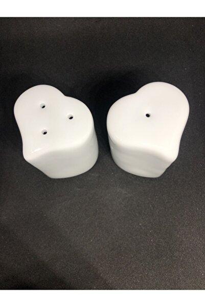 Güral Porselen Kalp Tuzluk Biberlik Takımı