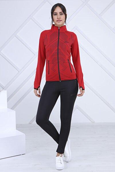 POLO SPEED Kadın Kırmızı Uzun Kollu Eşofman Takımı