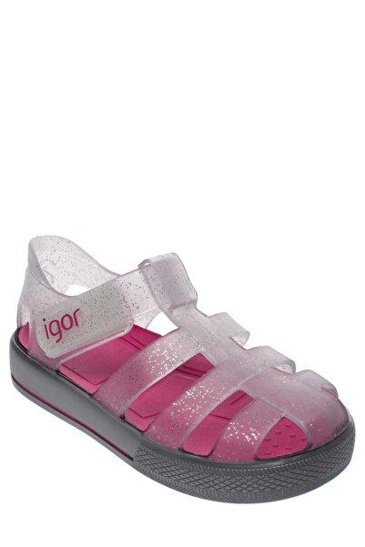 IGOR Star Çocuk Sandalet Gri Fuşya
