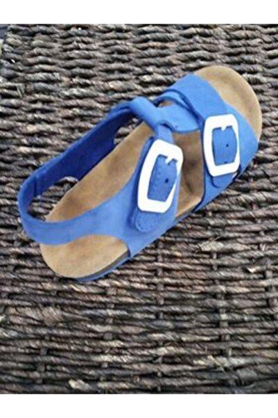 Vicco Patik Deri Saks Mavi Çocuk Sandalet 19y,090