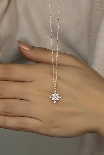 Else Silver Özel Tasarım Umut Çiçeği Gümüş Kolye