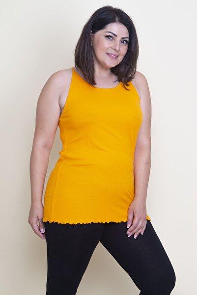 Şans Kadın Oranj Askılı T-Shirt