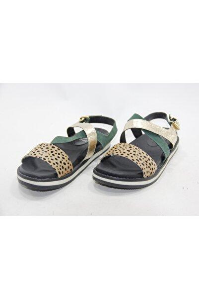 İnci Kadın Çok Renkli 39 Numara Hakiki Deri Sandalet Ayakkabı