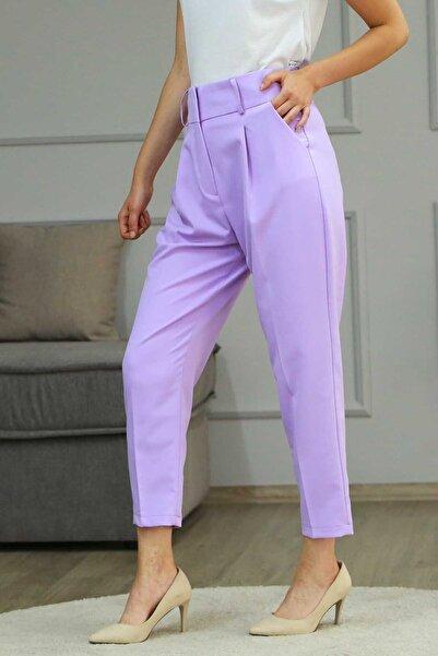 Madmext Kadın  Lila Kemerli Havuç Pantolon Mg225