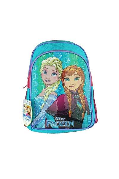 Hakan Çanta Kız Çocuk Turkuaz Frozen Elsa ve Anna Kumaş