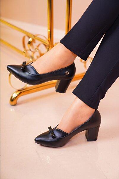 MERVESTORE Kadın Siyah Klasik Ayakkabı