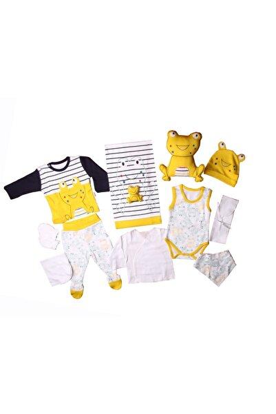 Minidamla Bebebk Sarı Kurbağalı Hastahane Çıkış Seti  10'lu