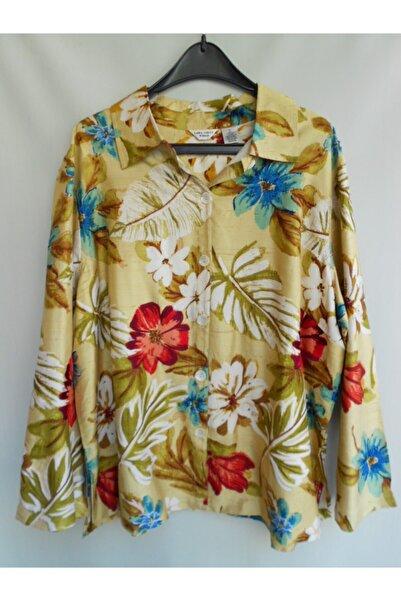 Laura Ashley Kadın Bej Otantik Ipek  Çiçek Desenli Ceket