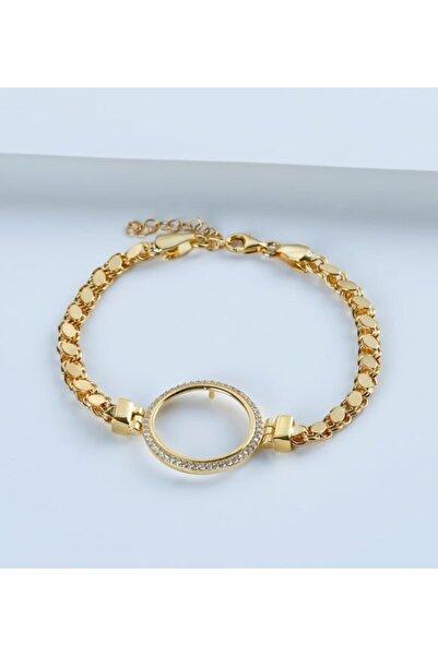 Gümüşistan 925 Ayar Gümüş Çeyrek Altın Için Pullu Zincir Bileklik