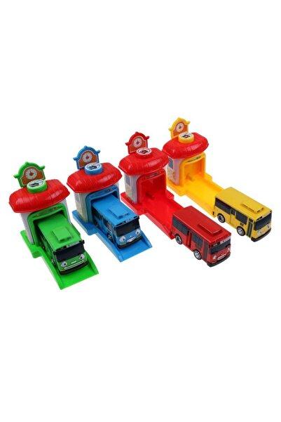 DEEMBRO 4 Lü Set Tayo Otobüs Ve Garaj Seti Tayo Oyuncakları Tayo Otobüs Garajı
