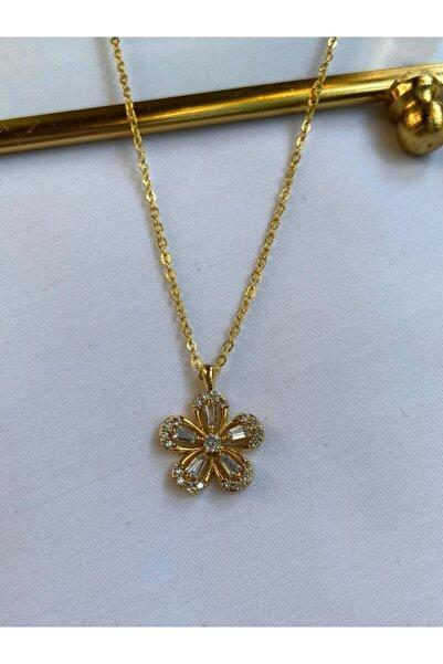 ms merijewelry Taşlı Çiçek Kolye