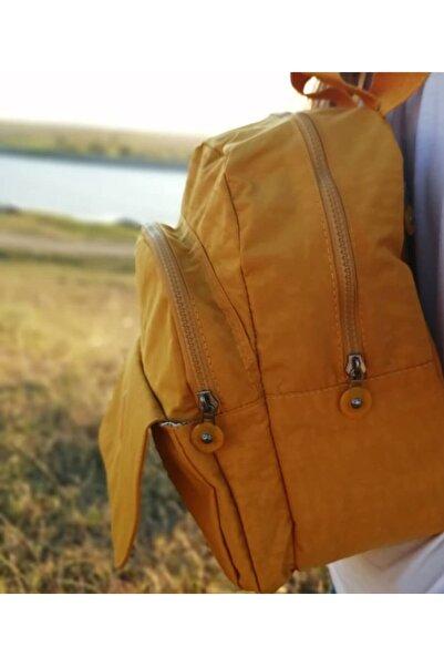 Serenity Rengarenk Sarı Su Geçirmez Krinkıl Çanta