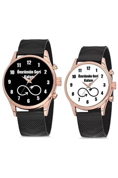 WatchArt Sevgili Saati Ömrümün Geri Kalanı Hasır Çift Saat Sevgililer Günü