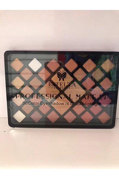 Estella Professıonal Make Up 30 Color Eyeshadow/4 Color Highlight