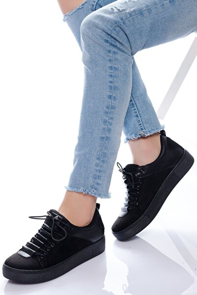 derithy -sneaker-siyah Süet