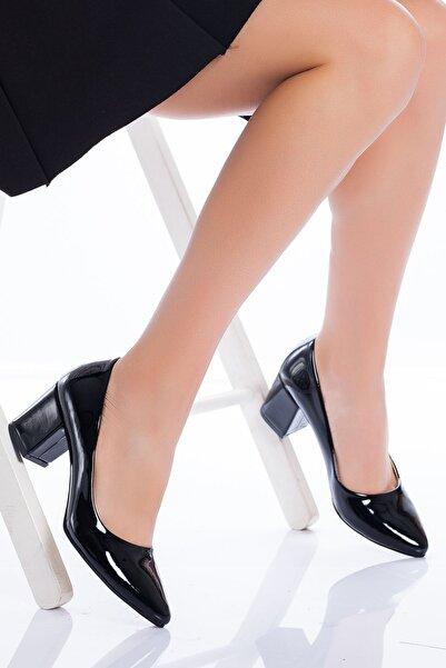 derithy -klasik Topuklu Ayakkabı-siyah Rugan