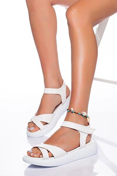 derithy -sandalet-beyaz