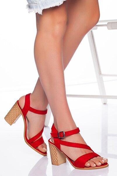 derithy -klasik Topuklu Ayakkabı-kırmızı Süet