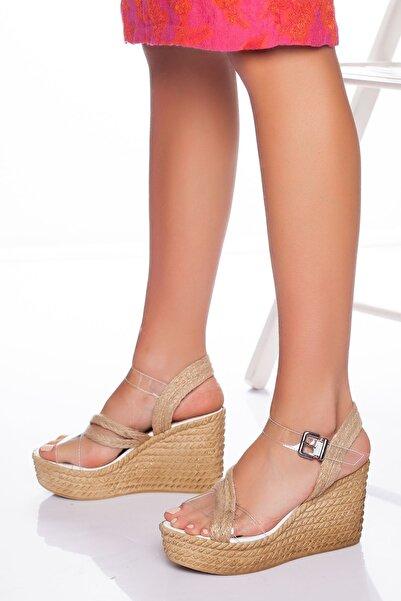 derithy -dolgu Topuklu Ayakkabı-şeffaf