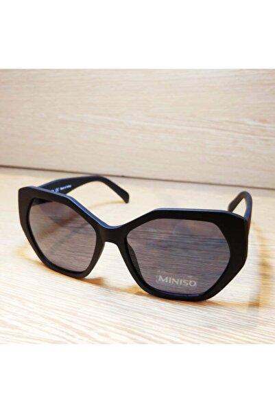Miniso Kadın Siyah Mınıso Mat  Çerçeveli  Güneş Gözlüğü