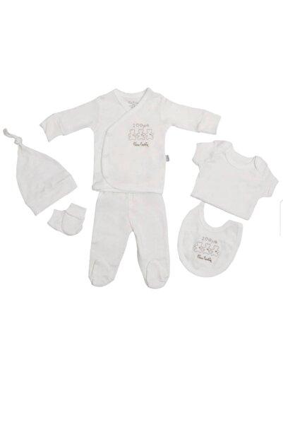Pierre Cardin Baby Kız Erkek Hastane Çıkışı Organik Pamuklu Yeni?doğan Seti  5'li