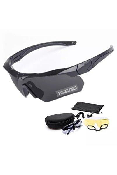 Özel Yapım Z87 Taktikal Es Sarı, Şeffaf, Siyah Camlı Gözlük