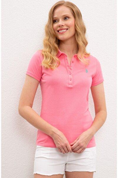 U.S. Polo Assn. Kadın Pembe  Polo Yaka T-Shirt