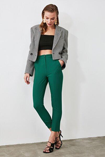 TRENDYOLMİLLA Yeşil Cigarette Pantolon TWOSS19ST0038