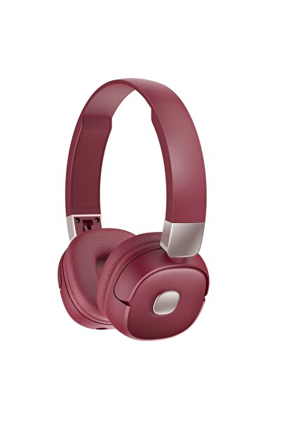 Roman Bordo Kırmızı Bluetooth Kulaklık 3d Stereo Ses G501