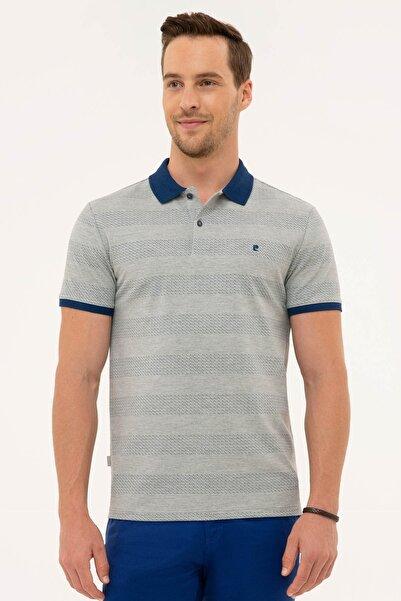Pierre Cardin Erkek Gri Melanj Slim Fit Polo Yaka T-Shirt