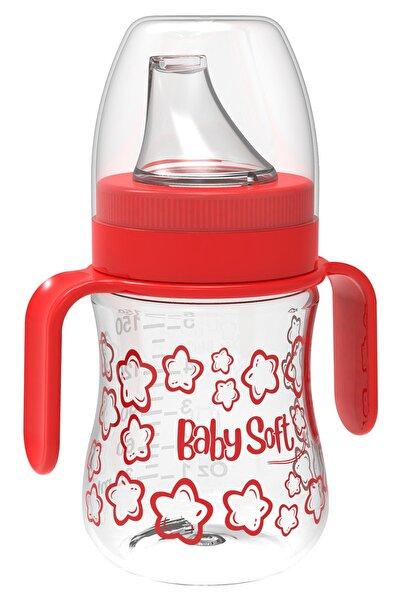 Babysoft 150 Ml Akıtmaz Plastik Suluk Kırmızı Kız / Erkek