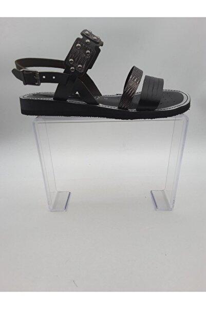 Oscar Siyah içi Dışı Hakiki Deri Sandalet 120