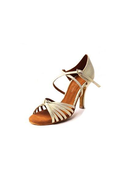 DANS AYAKKABISI Kadın Sarı Süet Topuklu Ayakkabı
