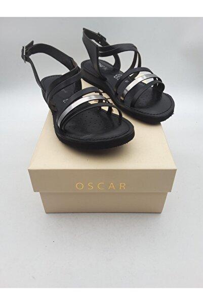 Oscar Kadın  Siyah Içi Dışı Hakiki Deri Sandalet 82
