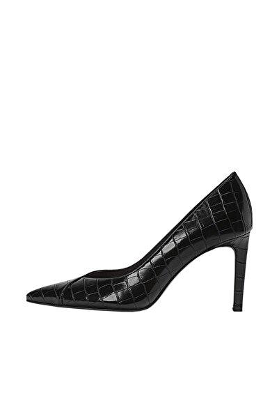 Stradivarius Kadın Siyah Kabartmalı Yüksek Topuklu Ayakkabı 19651670