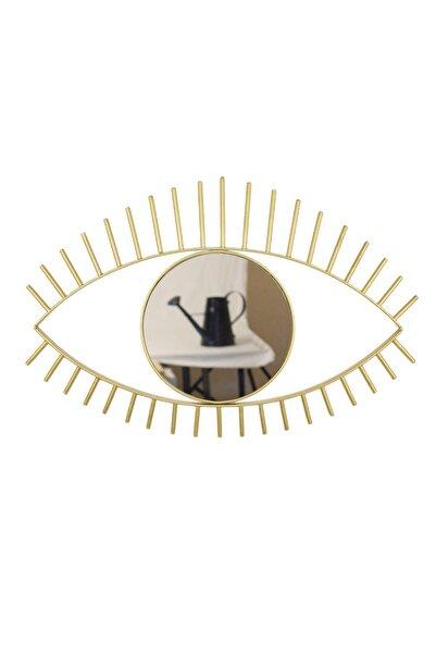 Desen Dekorasyon Göz Ayna Metal Çerçeveli Büyük