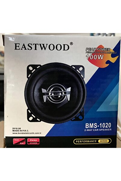 Moonstar Eastwood Bms-1020 Tweeter'lı Max Power 100w 10 Cm Oto Hoparlör Tekli Üründür