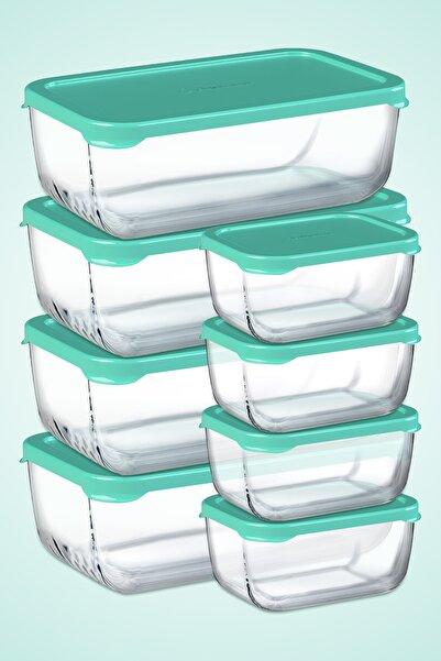 Paşabahçe 8 Parça Snowbox Saklama Kabı Takımı / 4 Büyük + 4 Orta