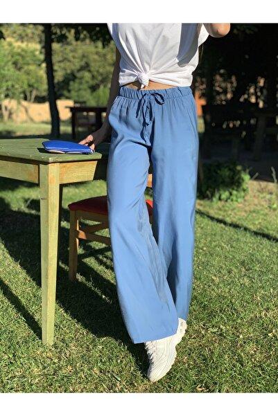 Kadın Indigo Geniş Paça Pantolon