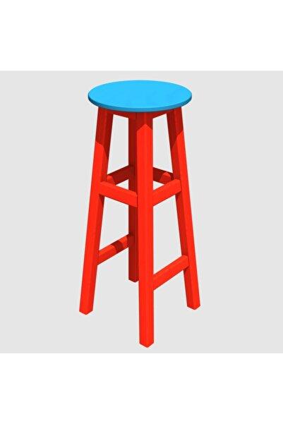 Arbre Bar Taburesi 73 Cm - Kırmızı Iskelet- Tabla Renk Seçenekli