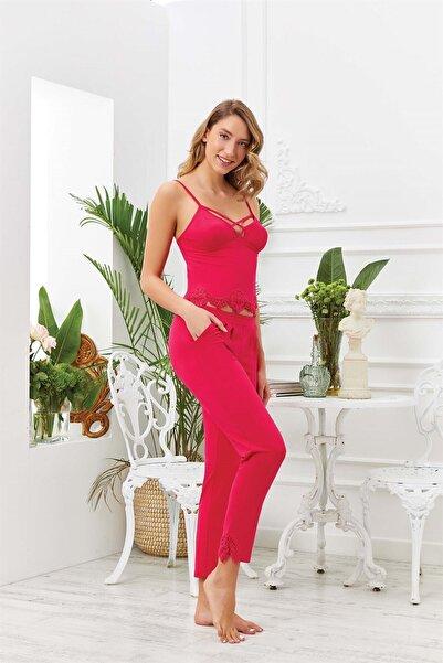 Cossy By Aqua Kadın Kırmızı Pijama Takım