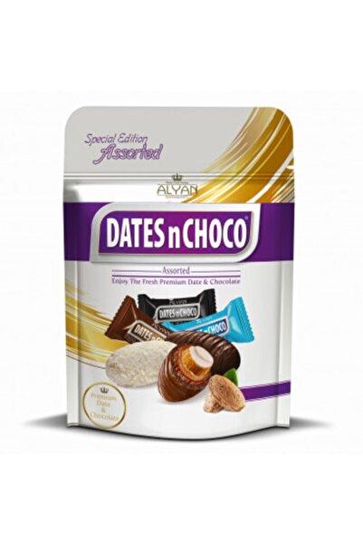 DATESnCHOCO Dates N Choco Sütlü Bitter Beyaz Çikolata Kaplı Bademli Hurma 90 G