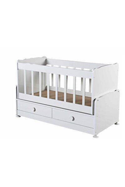 Diverso Home Diverso Beyaz Home Çekmeceli Sallanır Anne Yanı Ahşap Bebek Beşiği D201