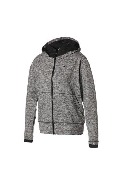Puma Kadın Gri Studio Yogini Long Jacket Dark Gray Heat Sweatshirt