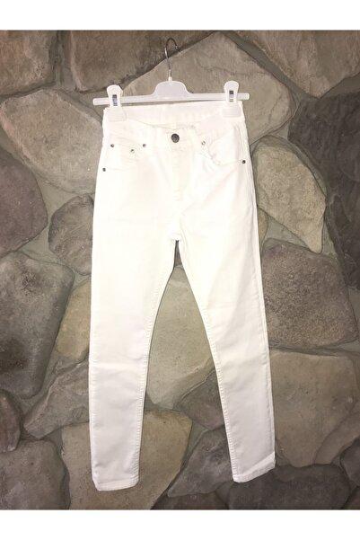 Elif Bebe Kız Çocuk Beyaz Full Likra Yüksek Bel Pantalon