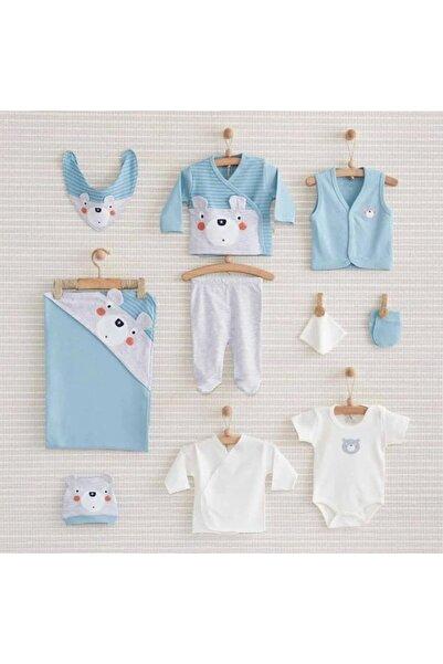 Nenny Baby Şaşkın Ayıcık 10 Parça Set Mavi